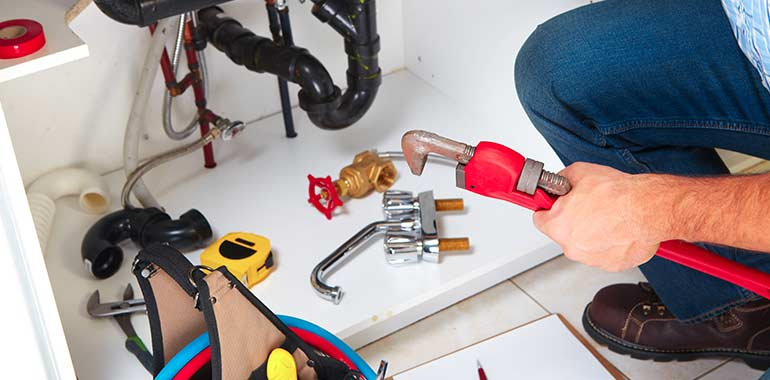 kitchen plumbing garbage disposal repair installation